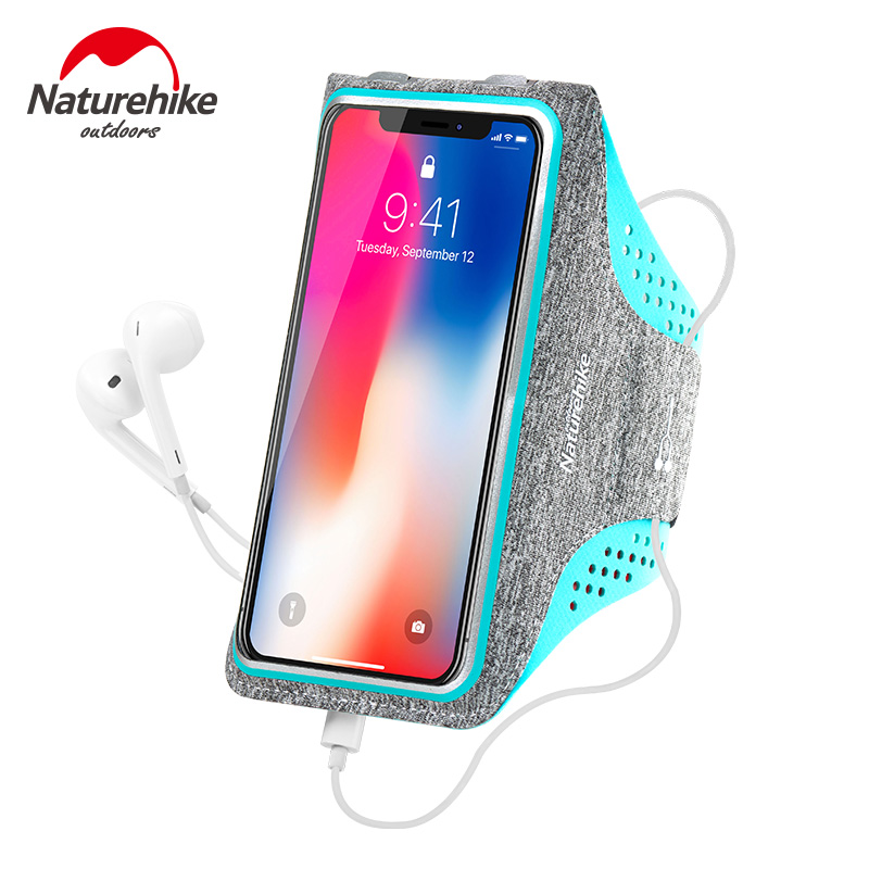 Naturehike Armband For iPhone X 8 7 6 6S Plus, LG G6, Galaxy s9 + s8 Edge, Xiaomi Sports Exercise Running Pouch Key Holder