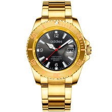 Gold luxury mens alloy business watch quartz waterproof fashion wristwatch top popular luminous hands watches bicycle mounted waterproof shockproof mini aluminium alloy luminous clock watch gold silver