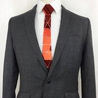 4f36293fc0 Handmade Geometric Rose Mirror Bling Acrylic Necktie Men Slim Fashion  Skinny Silk Ties Wedding Party Ruby