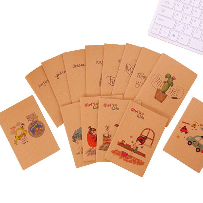 40 Best American Stationery Gifts Images On Pinterest: 40pcs/lot Vintage Series Blank Kraft Notebook Cartoon