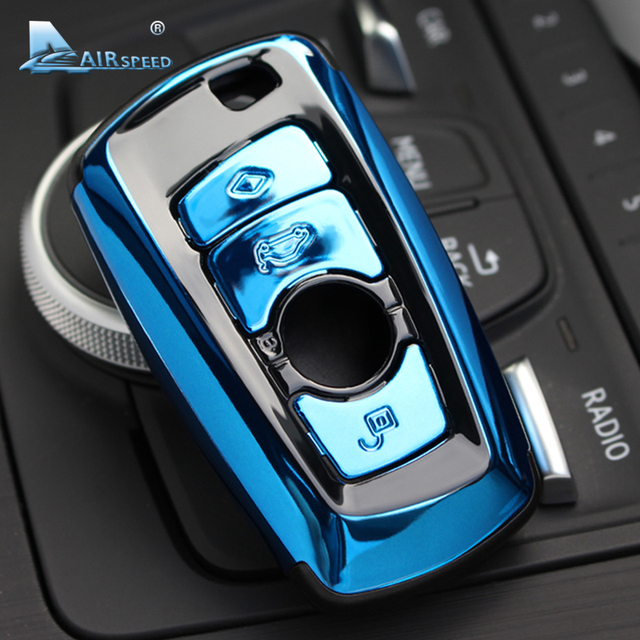 Airspeed ABS samochód obudowa pilota bez kluczyka wymiana zmodernizowane etui na klucze dla BMW F07 F10 F11 F20 F25 F26 F30 Car styling