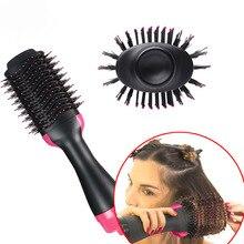 NEW Air Dryer Brush One Step Hair Dryer Comb Volumizer Brush Straightener Curler+Sleep Cap+2pcs Wig Rope