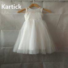 Лидер продаж платья для девочек с цветами на свадьбу белое/цвета