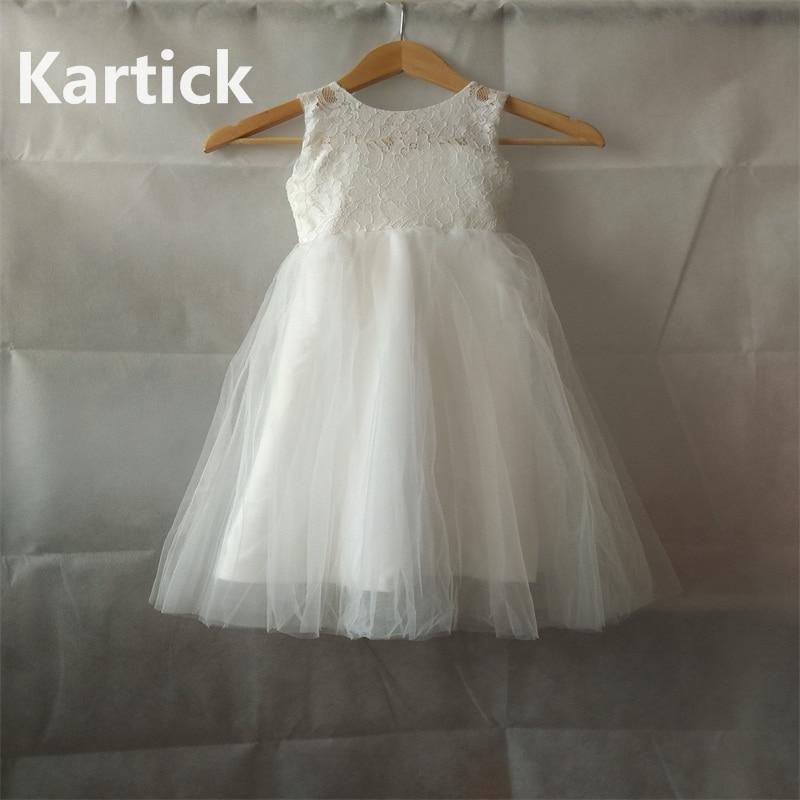 Hot Sale Flower Girl Dresses For Wedding White/Ivory Real Party Pageant Communion Dress Lovely Little Girls Kids/Children Dress