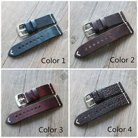 LUKENI Handmade 18mm 20mm 22mm 23mm Outdoor Pilots Crazy Horse Genuine Leather Watchband For Seiko Oris