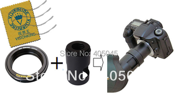 Visionking Spotting Scope Camera Adapter Tube And Conversion Ring For Nikon Canon DSLR Camera Adapter Tube&Conversion Rings