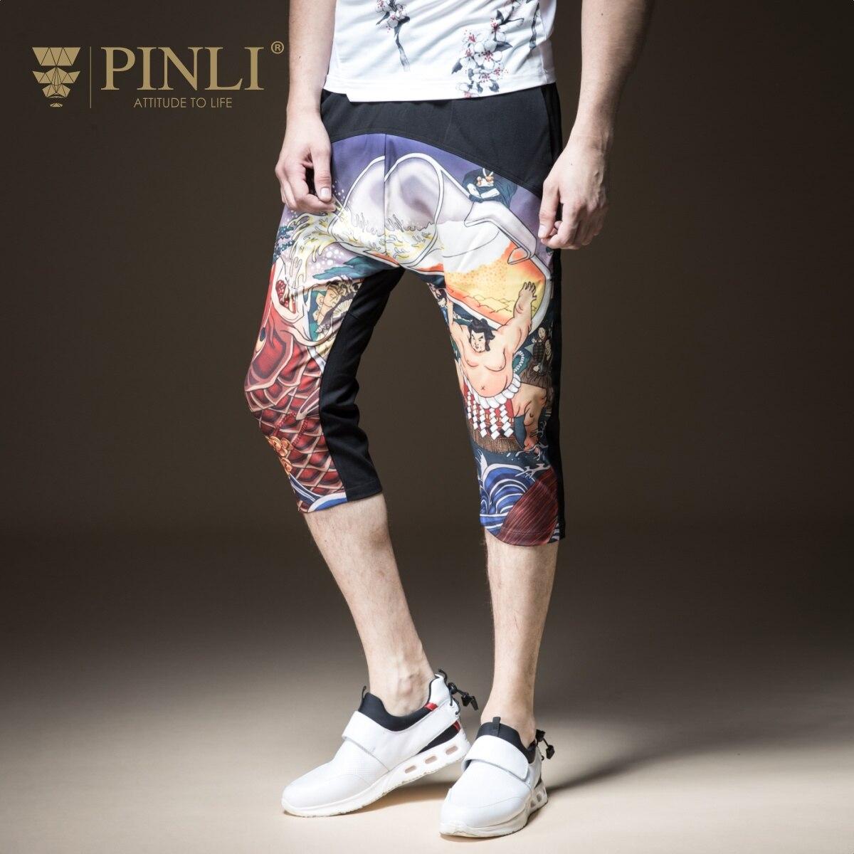 2019 Bamboo Fiber Men Rushed Bamboo Fiber Mid Harem Pants Pinli Pin Li Summer New Men's Loose Printed Haren Seven B182917460