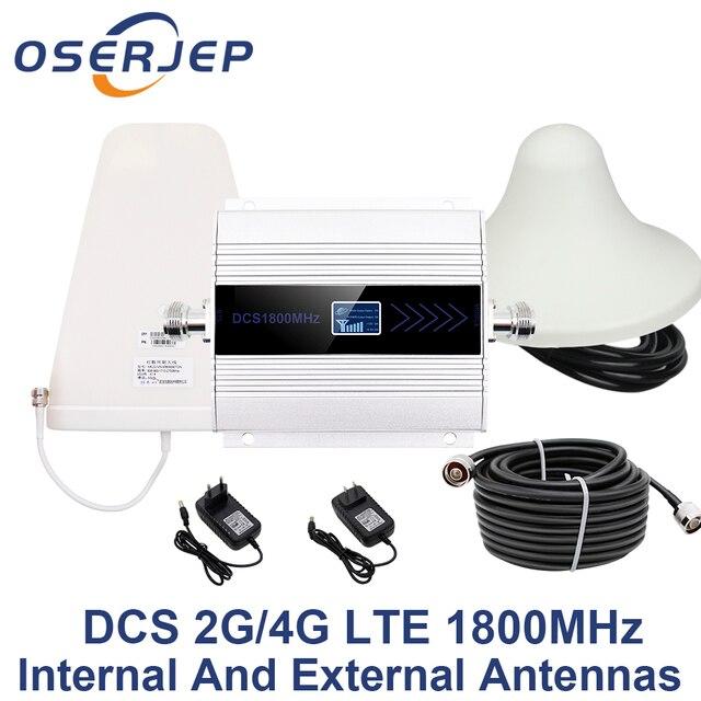 LCD תצוגת GSM משחזר 1800 Mhz 4G תא סלולארי אות מגבר booster DCS 1800 פנימי/חיצוני אנטנה
