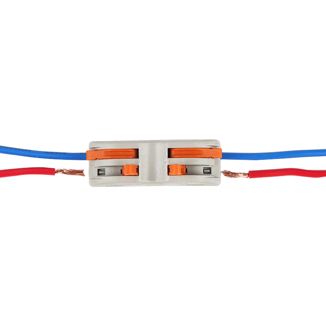 10pcs Wago Type New design 2 pin SPL-2  type Universal Compact Wire Connector Conductor Terminal Block With Lever 0.08-2.5mm2