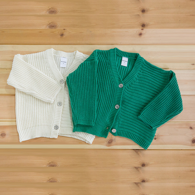 1ff2e40a22d0 Everweekend Girls New Knitted Sweater Cardigans Green and Beige ...