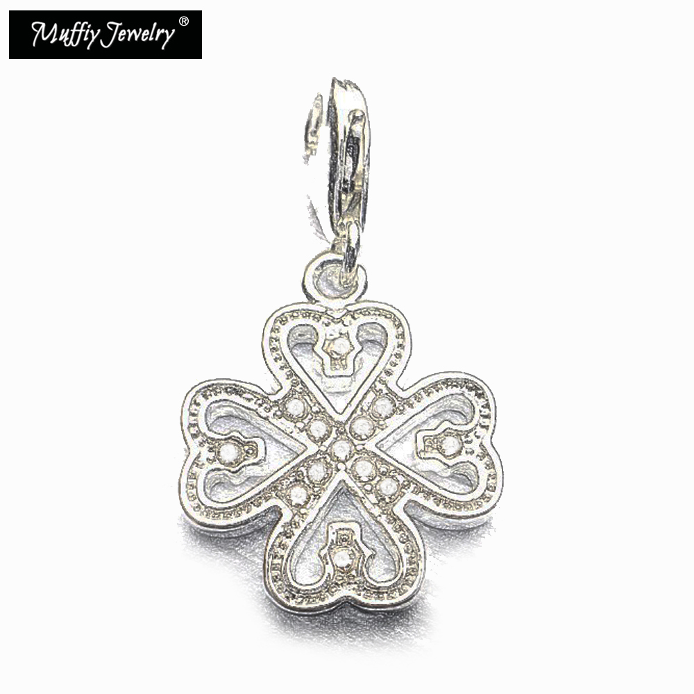 ᐃHeart Clover Leaf Charm,Europe Style Muffiy Club Good Jewelry For ...
