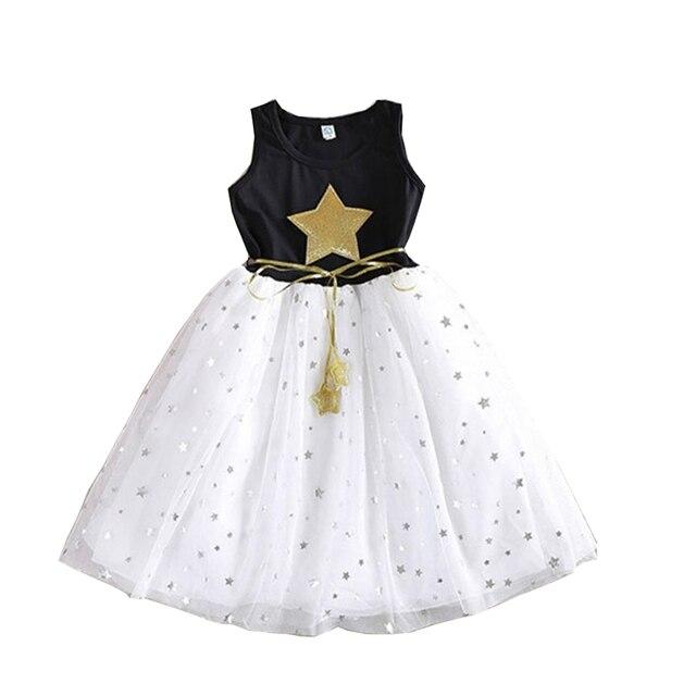 c874766564 New 2018 Kids Girls Children S Summer Tutu Ball Gown Princess Dresses For  Girls Sequins Stars