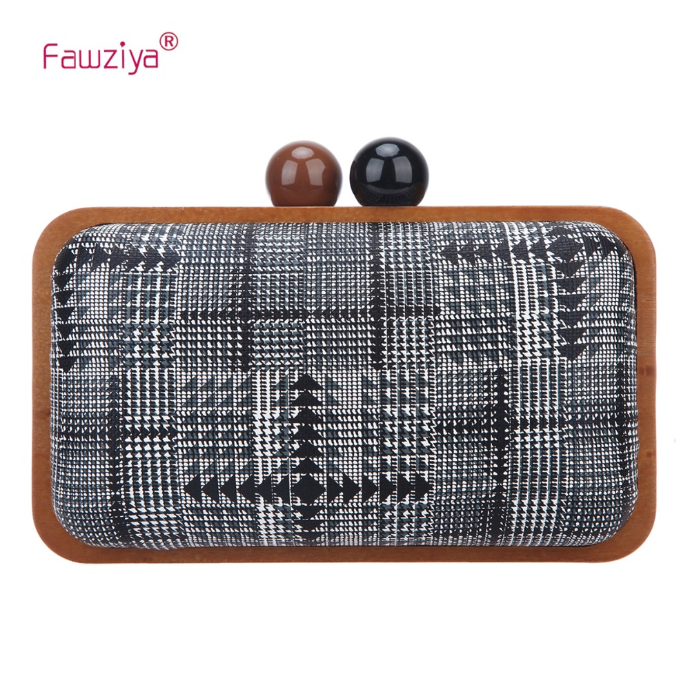 Fawziya Clutch Purses For Women Wood Frame Clutches And Evening Bags