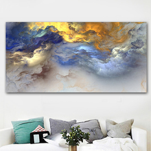Abstract Art, Canvas Wall Happy Home On canvas, Colorful Landscape Painting Printed No Frame