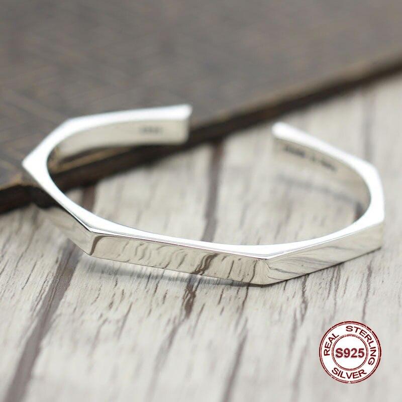 2017 s925 sterling silver new bracelet Simple and generous popular Retro couple bracelet Classic style Send