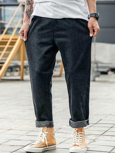 Mens Jeans Washed Ripped Hip-Hop Black Color-Sale Cotton New-Fashion Brand Autumn Mid