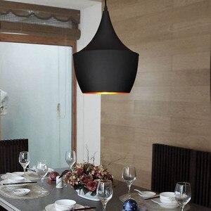Image 5 - 빈티지 펜 던 트 조명 로프트 펜 던 트 램프 레트로 매달려 램프 전등 갓 레스토랑 바 커피 홈 드롭 조명 luminarias
