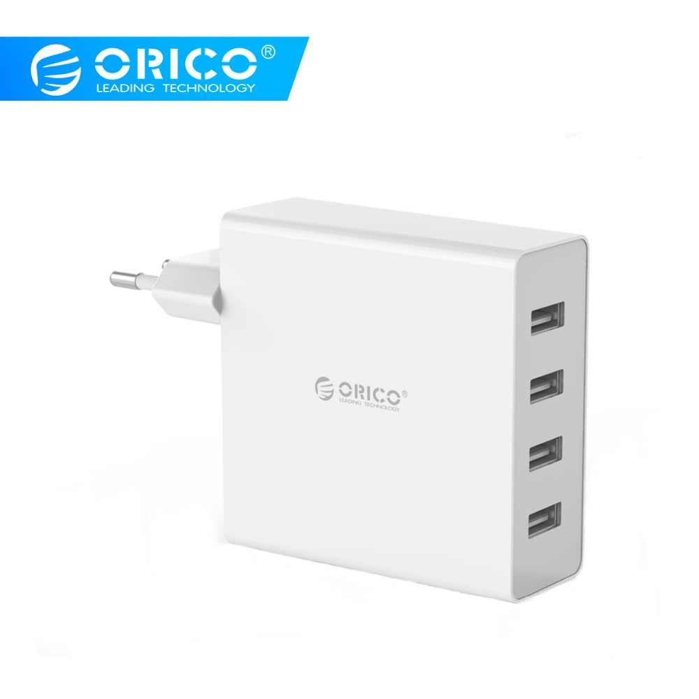 Orico USB Charger 4 Port Wall USB Ponsel Charger 5V2. 4A * 4 6A30W Output USB Charger untuk iPhone