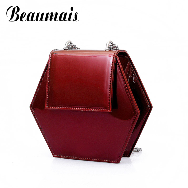 2018 New Fashion Women Crossbody Bags Designer Mini Hexagon Bags Pu Leather Women Messenger Shoulder Bag sac a main WBS340