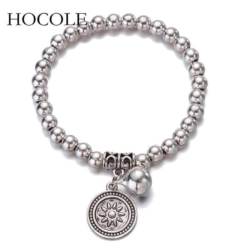 Aliexpress.com : Buy Simple Silver Tone Beads Bracelet