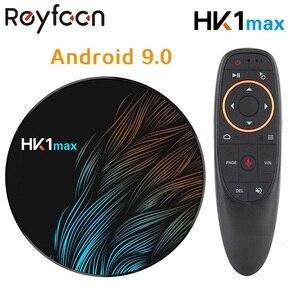 Image 1 - الذكية أندرويد 9.0 صندوق التلفزيون 4GB RAM 64GB HK1 ماكس Rockchip USB3.0 1080P H.265 4K 60fps المزدوج واي فاي جوجل التحكم الصوتي HK1MAX