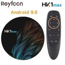 สมาร์ทAndroid 9.0 TV BOX 4GB RAM 64GB HK1 MAX Rockchip USB3.0 1080P H.265 4K 60fps dual Wifi Google Voice Control HK1MAX