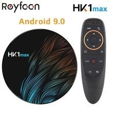 Thông Minh Android 9.0 TV BOX RAM 4GB 64GB HK1 MAX Rockchip USB3.0 1080P H.265 4K 60fps dual Wifi Google Điều Khiển Giọng Nói HK1MAX