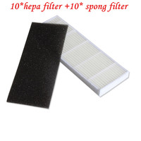 10pcs Hepa Filter For ILIFE A4S Robot Vacuum Cleaner Ilife A6 A4S A4 Parts Hepa Filter