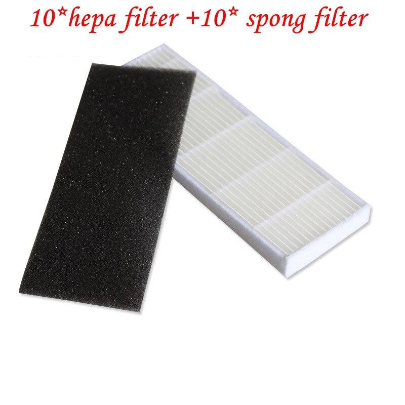 10pcs hepa filter for ILIFE A4S robot vacuum cleaner ilife A6 A4S A4 parts hepa filter chuwi ilife robot vacuum cleaner parts