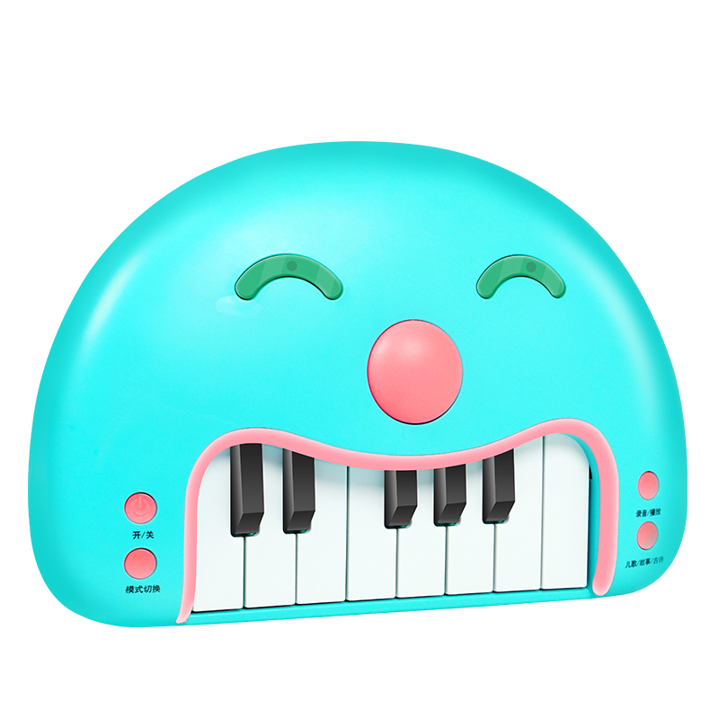 Qiaowa baby Musical Educational Recording Replay Animal Sound Toy Piano Developmental Music Learning Instrument Toys - 2