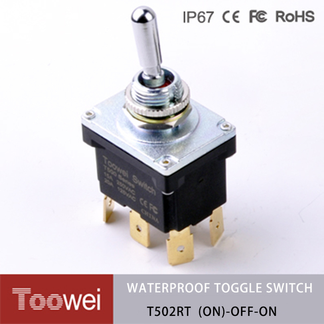 10pcs (ON) OFF ON spring return on off on toggle switch 3 position ...