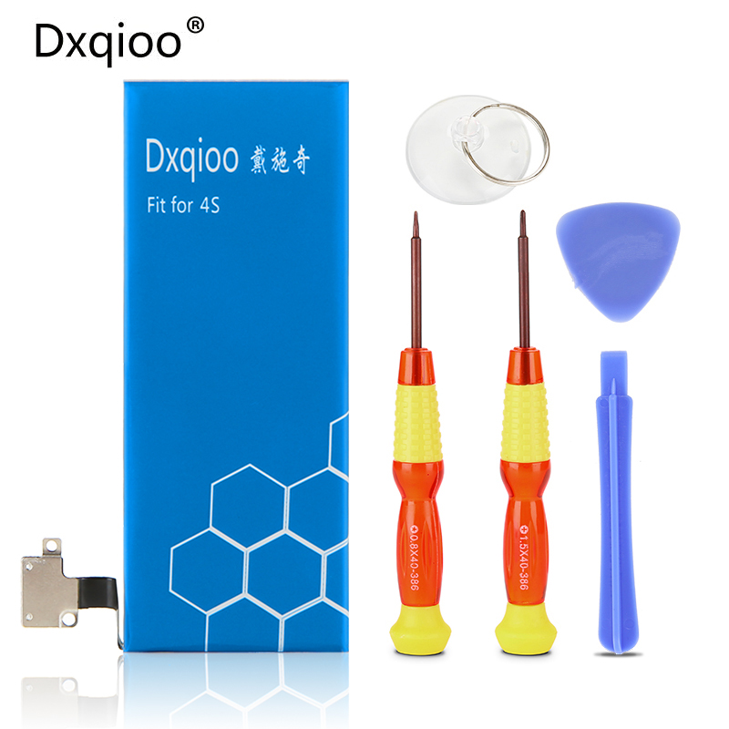 Dxqioo fit for iphone 4S battery +Battery removal tool kit Zero cyclic mobile phone batteries