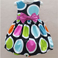 Summer Style Girl Dress girl outfits Polka Dot Princess Dresses with bow Belt Sleeveless Children Infant Clothing