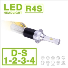 1 Set D1S D2S D3S D4S 90W 10400LM R4S LED Headlight Super Slim Conversion Kit Fanless Driving Fog Headlamps Bulbs 3K 4.3K 6K 8K