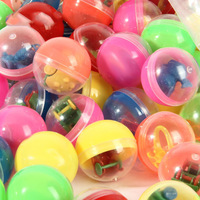 100pcs/Pack diameter 45mm plastic capsules toy balls with different Filling toys mini dolls mix for vending machine