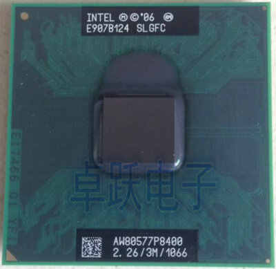 Originale per Intel Core 2 Duo P8400 CPU 2.26G 3 M cpu 1066 MHz 25 W notebook PGA Notebook processore compatibile PM45 GM45 chipset