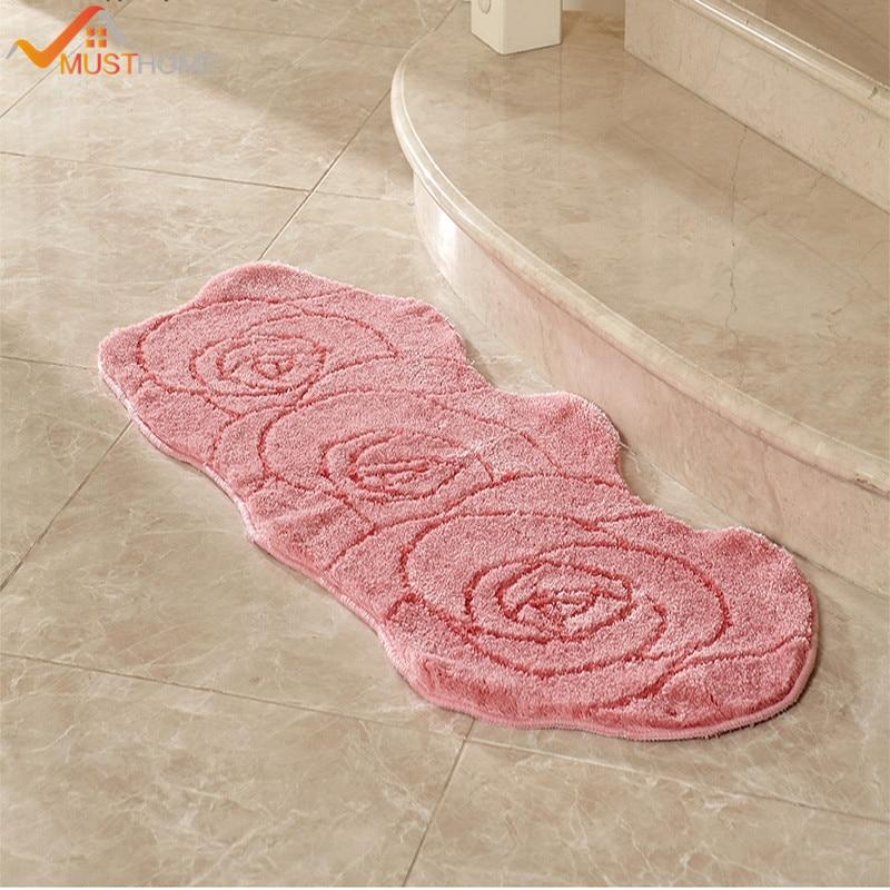 Rose Shape Microfiber Long Kitchen Rug 19.6u0027u0027Wx47.2u0027u0027L/50x120cm Free  Shipping