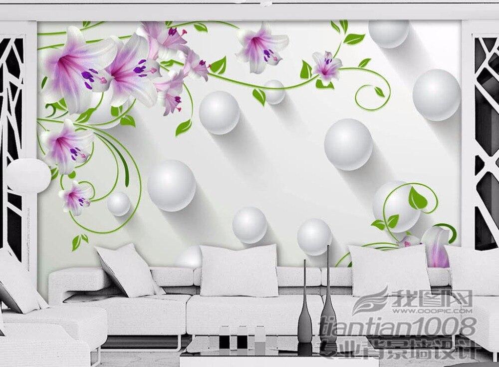5d Wall Murals Crystal Butterfly Purple Flower Glitter 3d Wallpaper Mural  3d Photo Wall Mural For Living Room 8d Mural Part 95