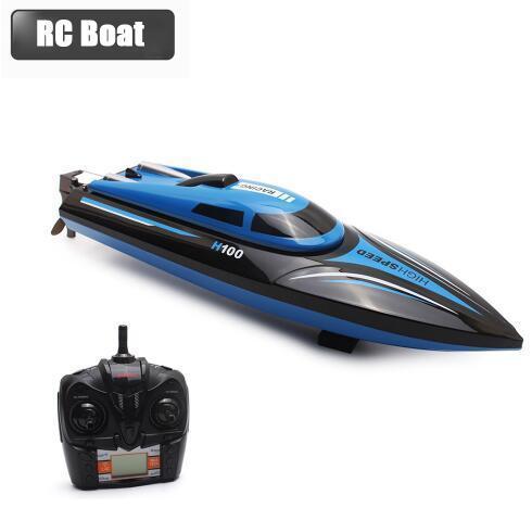Mise à niveau 2.4ghz 4ch télécommande Rc bateau à grande vitesse Skytech H100 bateau de course avec écran Lcd jouets cadeau pour enfants