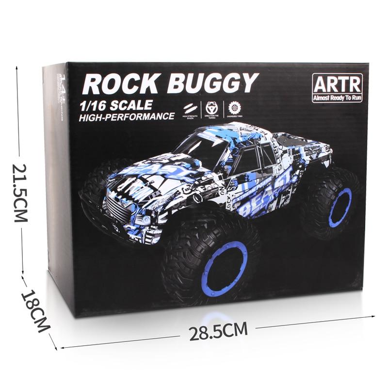 1:16 Toy RC Car Off Road Rock Crawlers Beast 2.4G 25km / h RC Racing - დისტანციური მართვის სათამაშოები - ფოტო 6