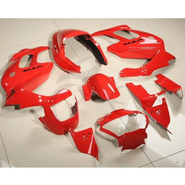 Motorcycle ABS Plastic Red Fairing Bodywork Kit Fit For Honda VTR1000F 1997-2005 hot sales for honda vtr1000f 1997 2005 vtr 1000 f 97 98 99 00 01 02 03 04 05 vtr1000 f red aftermaket abs motorcycle fairing kit