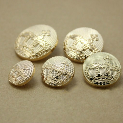 DIY Apparel Sewing Vintage Plated rose golden metal zinc alloy material crown shake button 100pcs/lot