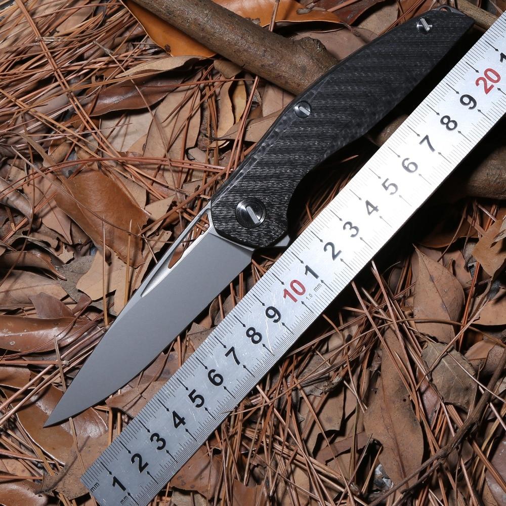 DICORIA Flipper F111 S35VN lame couteau se pliant tactique de survie en plein air en fiber de carbone camping chasse couteaux de poche EDC outils