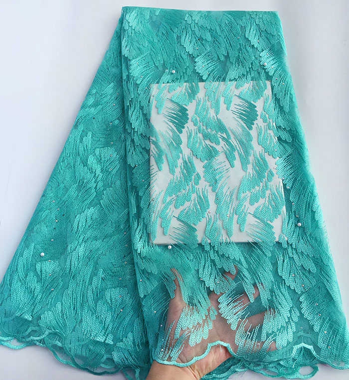 Clearance 5 yards African french lace Nigerian tulle lace fabric garment sewing cloth high quality good choice