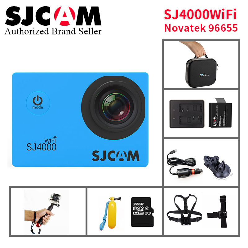 Original SJCAM SJ4000 WIFI Action Camera 2.0 LCD Screen Upgrade SJ CAM 4000 Series 30m Waterproof Mini DVR Sports DV helmet cam