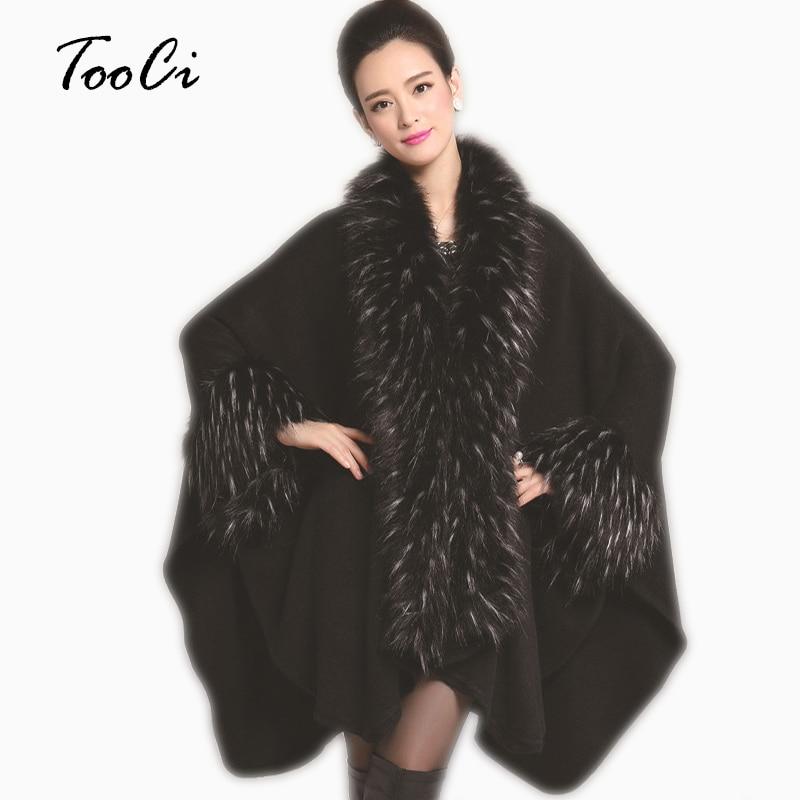 Fesyen Wanita Faux Fur Coat Tiruan Ostrich Feather Poncho Dan Cape Pakaian Luar Feminino Casaquinho Wanita Merajut Cardigan