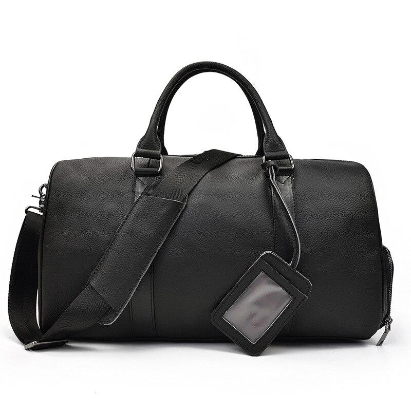 Nouveaux hommes en cuir véritable Sport sac de sport pour les femmes Fitness formation voyage Duffle sacs à bandoulière sac à main en plein air sac de Sport