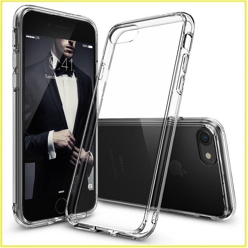 bilder für Für iphone 7 fall ursprüngliche ringke [FUSION] klar pc zurück tpu stoßdämpfung drop schutzhülle für iphone 7 plus