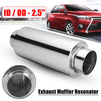 Universal 2.5 Inlet 2.5 Outlet Car Muffler Exhaust Tip Tail Pipe Rear Tube Angle Cut Outlet Nozzle