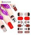 2016 проекты 5 sheet для ногтей ногтей клей фольги наклейки маникюр градиент украшения цвет блеск